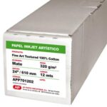Papel Inkjet - Fine Art Textured 100 Cotton 320 grs. AP Matte