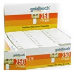 Adhesivo en angulos - Goldbuch doble cara 1 Rollo x 250 u.